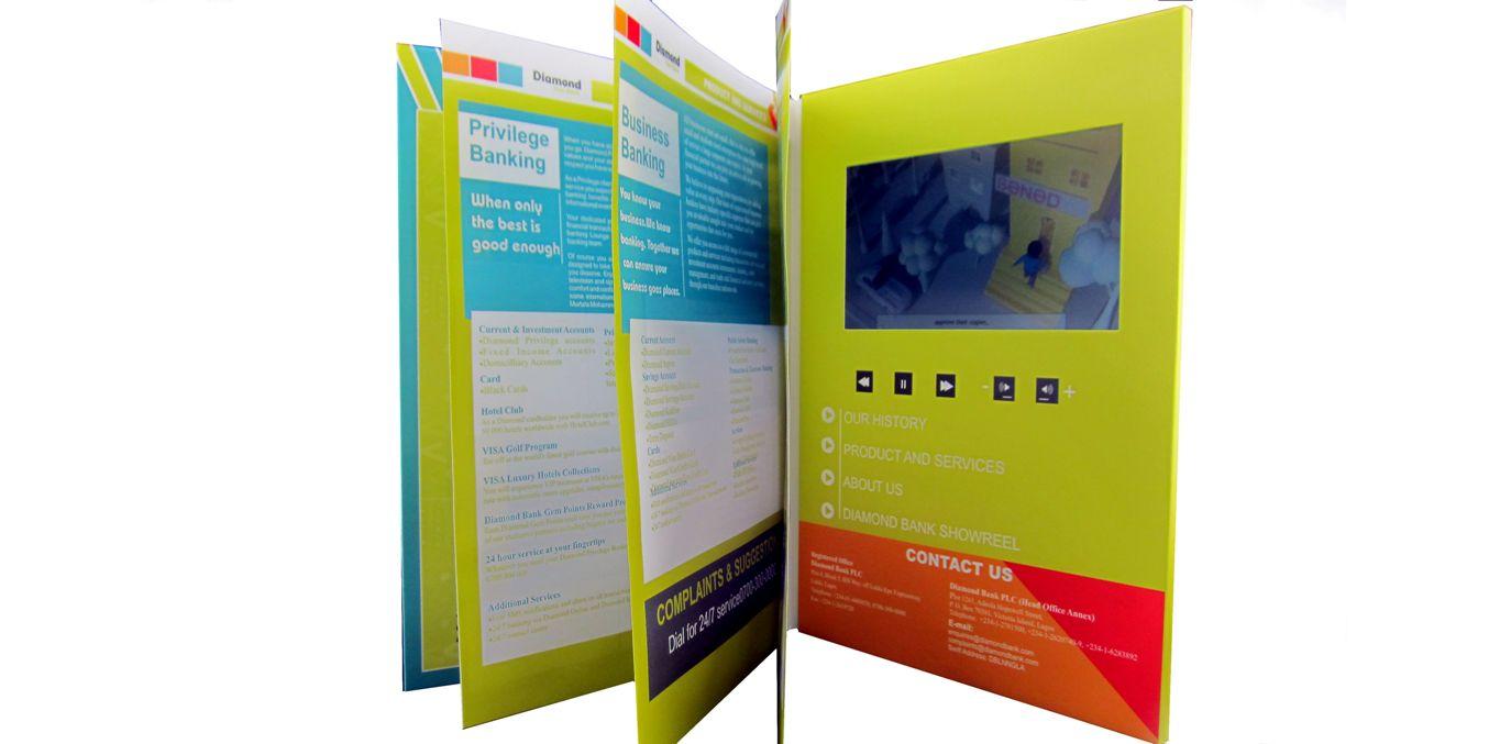 "7"" LCD video brochure"