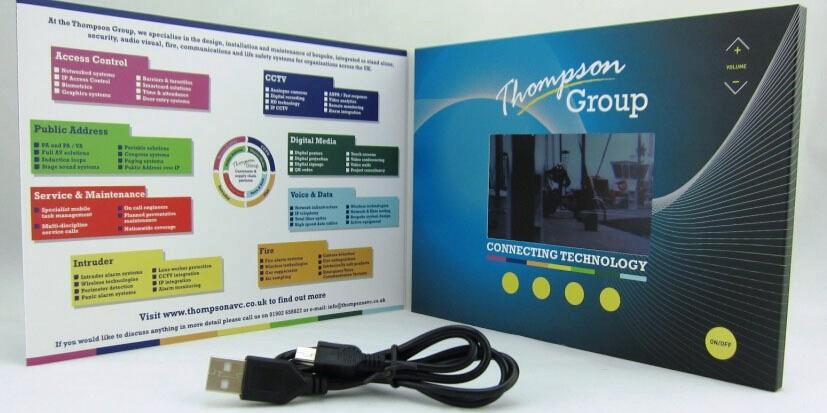 "4.3"" LCD video brochure"