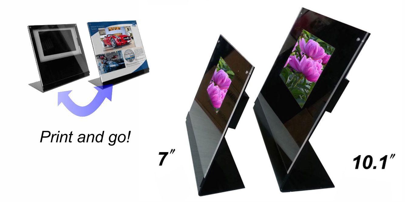 LCD acrylic video display